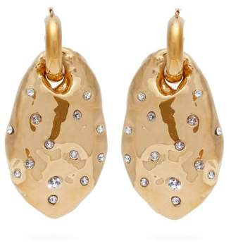 Colville - Crystal Embellished Moulded Drop Earrings - Womens - Gold