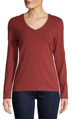 c56d3042309 ... Lord & Taylor Long-Sleeve Essential V-Neck Tee