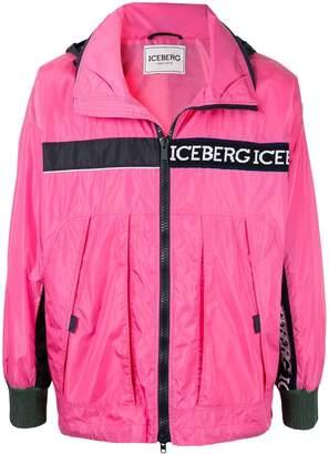 logo print lightweight jacket