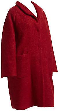 Marina Rinaldi Marina Rinaldi, Plus Size Women's Bouclé Wool Cocoon Coat