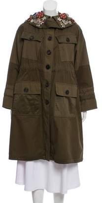 Alexander McQueen Hooded Knee-Length Coat