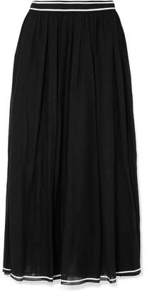 Philosophy di Lorenzo Serafini Cotton-muslin Midi Skirt - Black