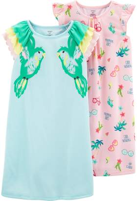 Carter's Girls 4-14 2-pack Toucan Nightgowns