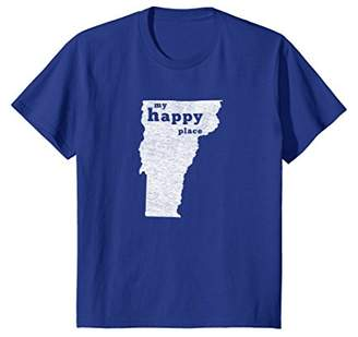 Vermont T-Shirt Distressed Happy Place Tee