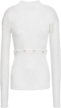 CHRISTOPHER ESBER Convertible Ribbed-knit Top