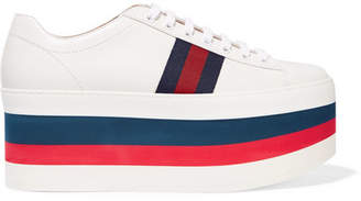 Gucci Leather Platform Sneakers - White