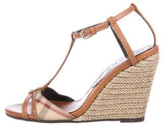 Burberry House Check Wedges