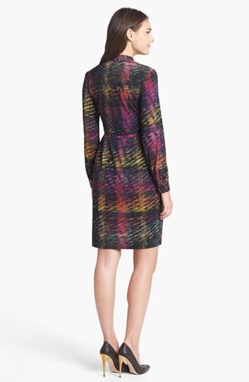 Maggy London Print Jersey Wrap Dress