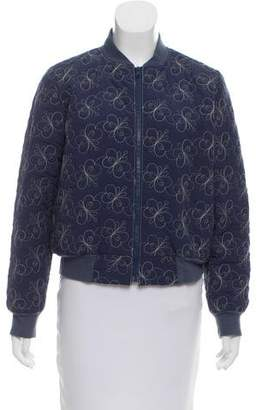 Anna Sui Quilted Bomber Jacket