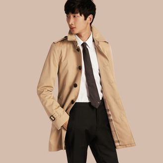 Burberry Mid-length Cotton Gabardine Trench Coat $1,795 thestylecure.com