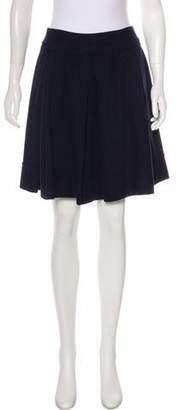Robert Rodriguez Wool Pleated Skirt
