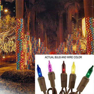 Asstd National Brand 2' X 8' Multi Mini Christmas Net Style Tree TrunkWrap Lights with Brown Wire