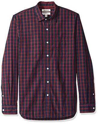 Goodthreads Men's Standard-Fit Long-Sleeve Plaid Poplin Shirt