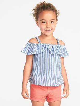 Old Navy Striped Bow-Tie Off-the-Shoulder Top for Toddler Girls