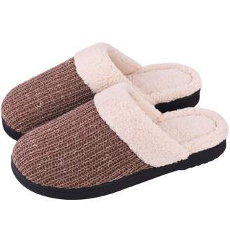 acd57622f56 at Amazon Canada · Snug Leaves Women s Knitted Slippers Cozy Memory Foam  Plush Lining Slip-on House Shoes with