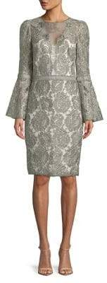 Tadashi Shoji Lace Bell-Sleeve Dress