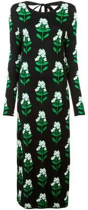 Carolina Herrera floral intarsia long dress