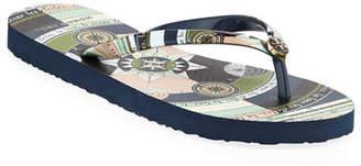Tory Burch Printed Flip-Flop Sandals