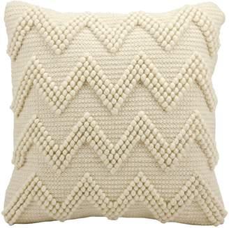Mina Victory Chevron Pom Accent Pillow
