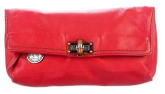 Lanvin Leather Flap Clutch