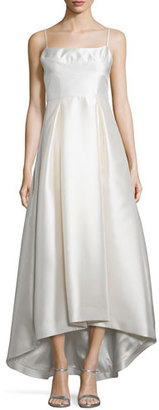 Black Halo Adashi Sleeveless High-Low Gown, Pearl $650 thestylecure.com