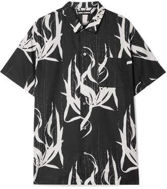 Double Rainbouu - Printed Cotton-voile Shirt - Black