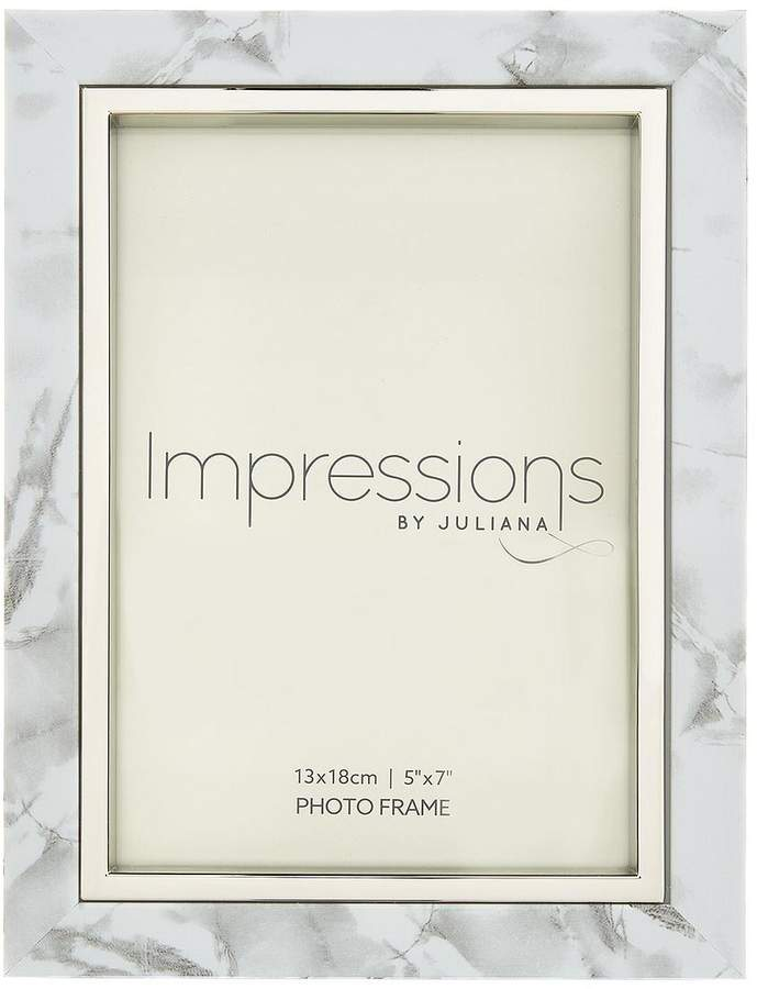 White Marble Look Photo Frame
