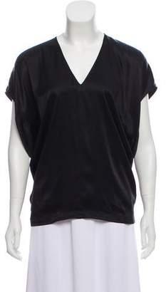 Helmut Lang Silk V-neck Top