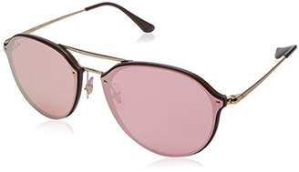 Ray-Ban Unisex's 0RB4292N 6327E4 Sunglasses, Brown Mirror Pink