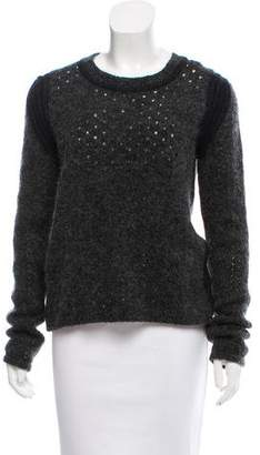 See by Chloe Wool-Blend Perforated Sweater