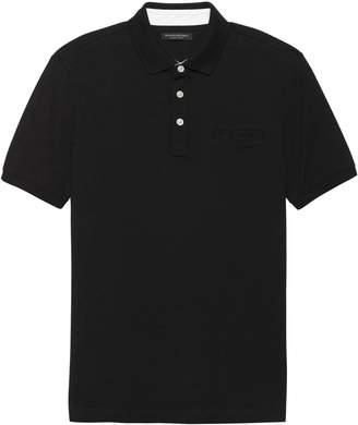 Banana Republic Luxury-Touch Polo with Stripe Placket