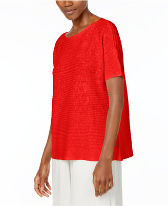Eileen Fisher Organic Linen-Cotton Boxy Sweater $158 thestylecure.com
