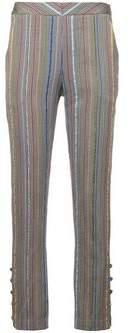 Rosie Assoulin Rainbow Stripe Skinny Trousers