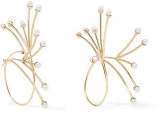Ellery Rarig Gold-plated Pearl Earrings