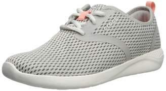 Crocs Women's LiteRide Mesh Lace-Up Sneaker, Pearl White