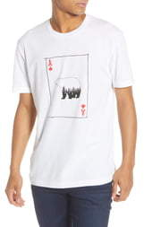 French Connection Slim Fit Bear Playing Card Graphic T-Shirt