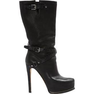 Christian Dior Leather buckled boots