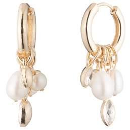 Carolee Hoop & Cultured Freshwater Pearl Cluster Drop Earrings