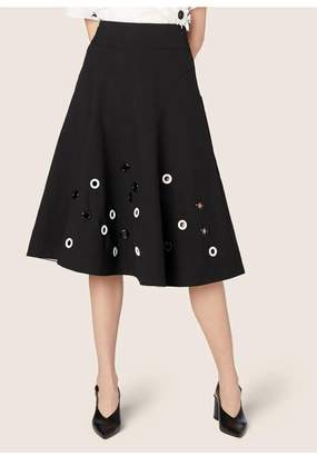 Derek Lam Embroidered Flare Skirt