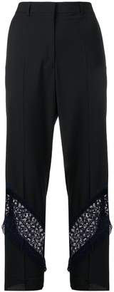 Golden Goose cropped lace insert trousers