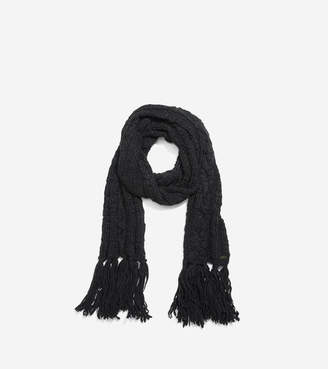 Cole Haan Chunky Cable Muffler With Fringe