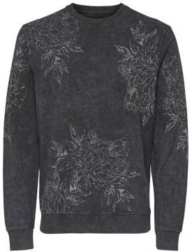 ONLY & SONS Floral-Print Cotton Sweater