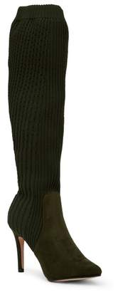 Catherine Malandrino Domhigh Textured Knit Tall Boot