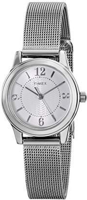 Timex Women's T2P457 Casey Dress -Tone Stainless Steel Mesh Bracelet Watch