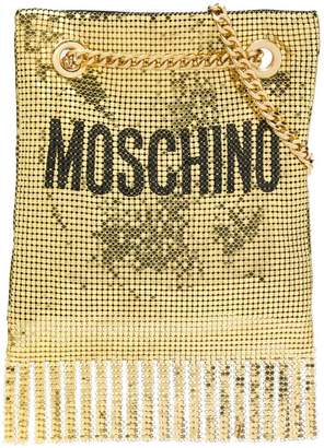 Moschino metallic clutch bag