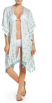 Women's Caslon Tie Dye Tassel Wrap $29 thestylecure.com