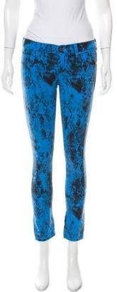 Elizabeth and James Textiles x Printed Low-Rise Jeans