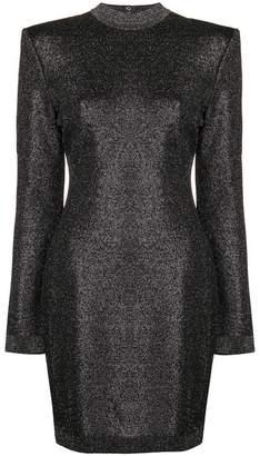 Balmain lurex mini dress