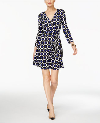INC International Concepts Printed Wrap Dress, Only at Macy's $79.50 thestylecure.com