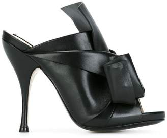 No.21 open toe high mules